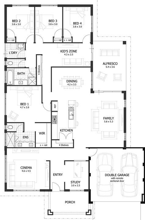simple house diagram 4 bedroom house plans home designs cottage house plans