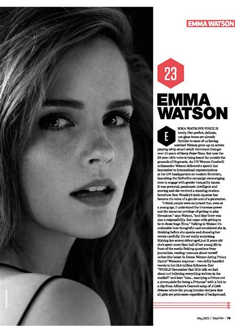 emma watson independent film emma watson updates new interview of emma watson in total
