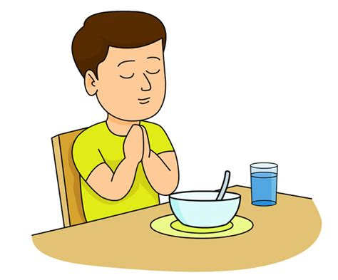 At The Table by Christian Clipart Clipart Boy Praying At Dinner Table