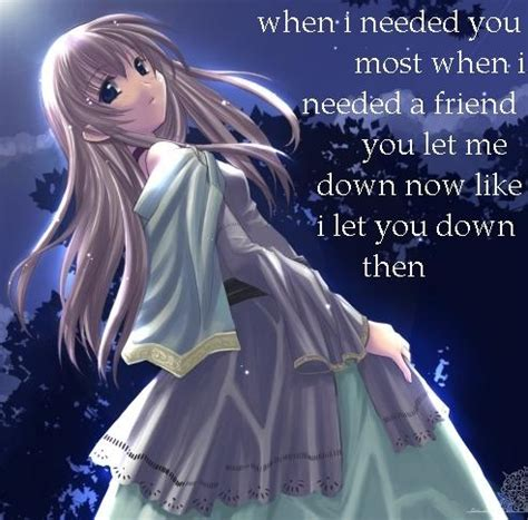 Anime Quotes Sad by Depressed Anime With Quotes Quotesgram