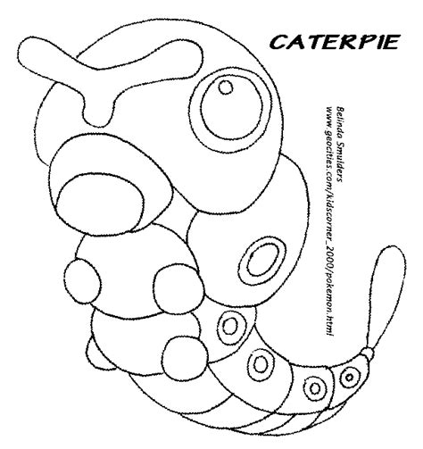 pokemon coloring pages butterfree free caterpie coloring pages