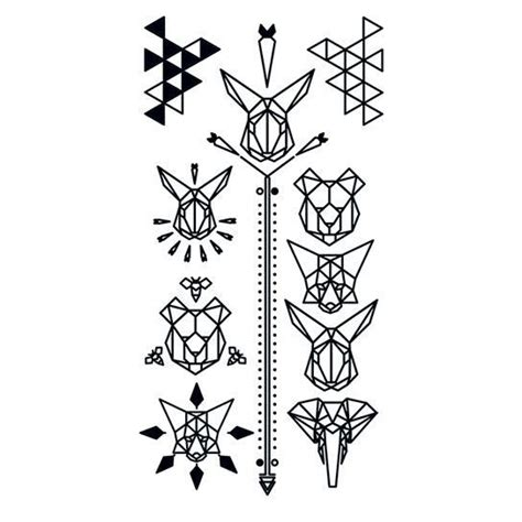 geometric tattoo vector 25 best ideas about geometric tattoo animal on pinterest