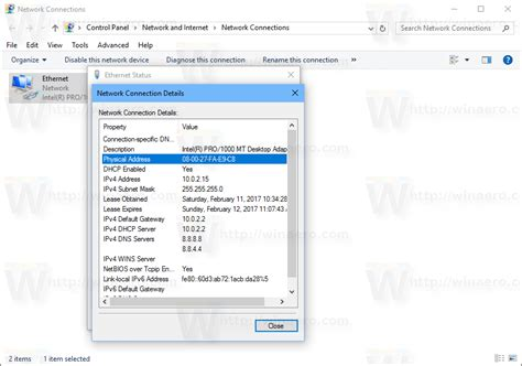 Mac Address Search On Network How To Find Mac Address In Windows 10 Winaero