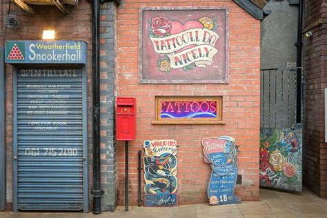 tattoo parlour victoria coronation street cobbles get an update as itv unveils new