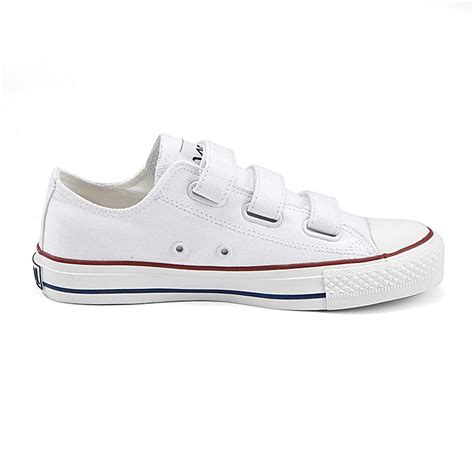 vancl velcro low canvas shoes white sku 168272 wholesale