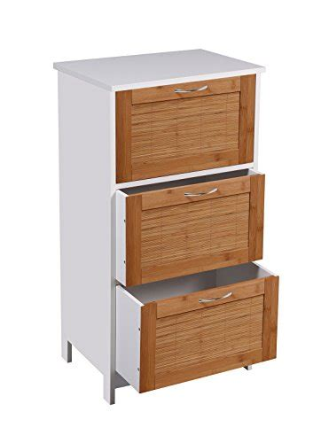 home source white brown bamboo bathroom storage cabinets