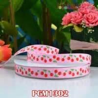 Pgm1301 Pita Grosgrain Motif Cherry 58 Inch Kuning Muda Per Meter grosgrain