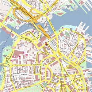 Boston Hotels Map by Map Boston Hotels Downtown