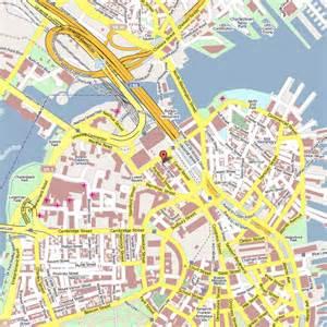 Boston Hotel Map by Map Boston Hotels Downtown