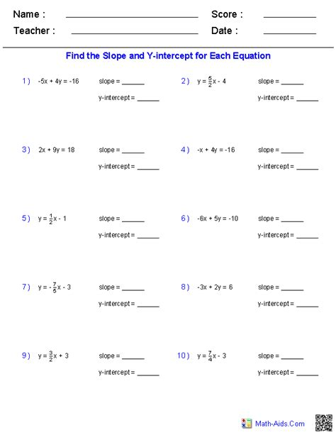 Linear Equations Worksheets by Pre Algebra Worksheets Linear Functions Worksheets