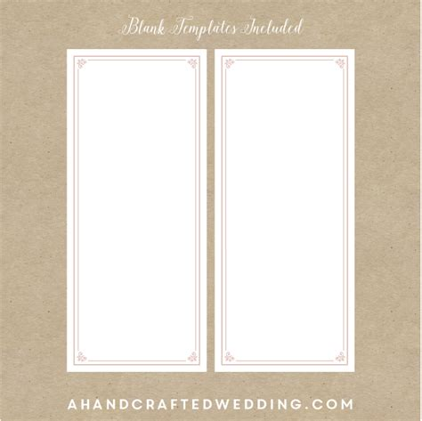 blank program template gse bookbinder co