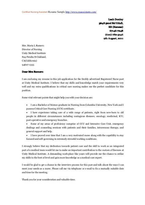 nursing resume cover letter ideas business document