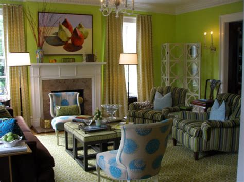 lime green living room decor modern house