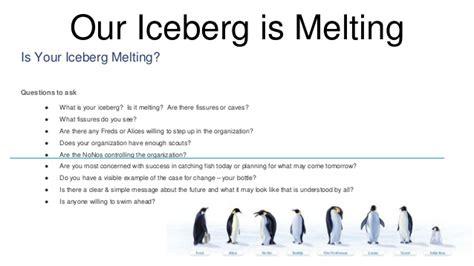 our iceberg is melting iceberg scorecard slide share