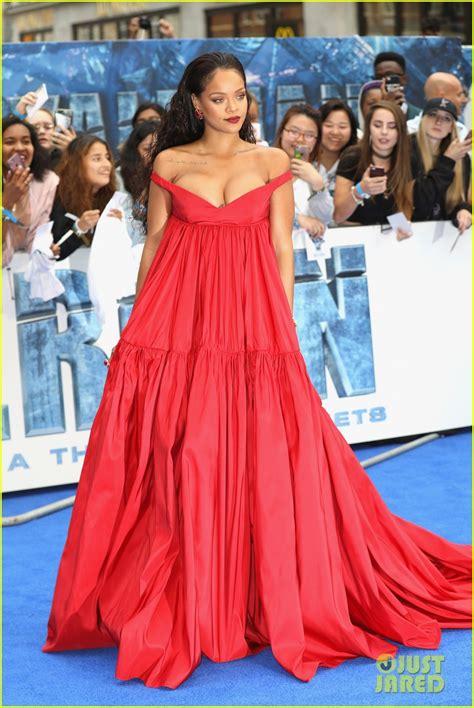 Dress Rihanna rihanna rocks flowing dress for valerian european