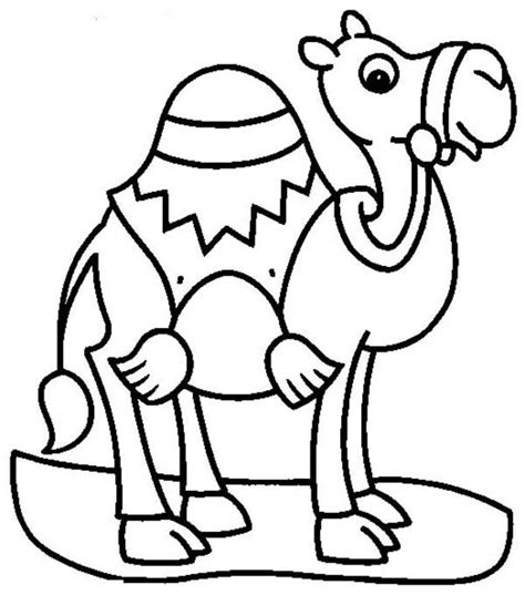 Camel for Transportation Coloring Page   Download & Print