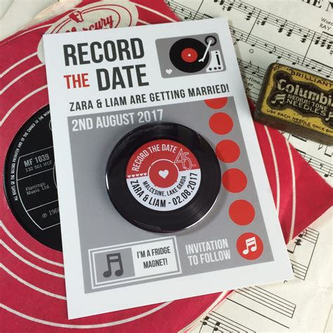 vinyl record wedding invitations uk vinyl record save the date magnets with postcards