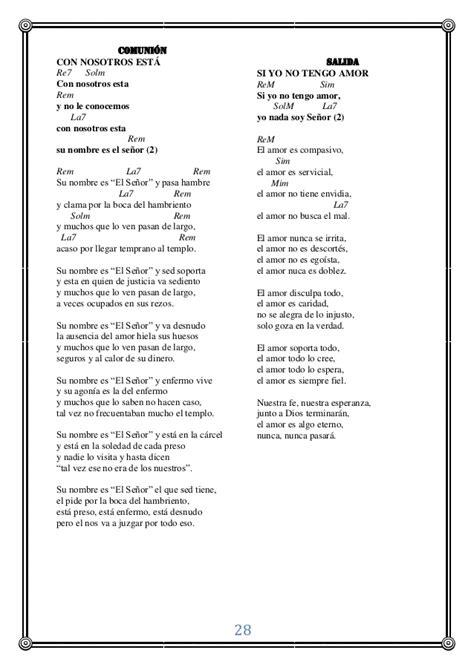 canciones para misa cantos para misas en el a 241 o lit 250 rgico