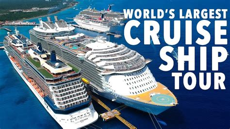 biggest boat in the world tour world s largest cruise ship tour harmony of the seas