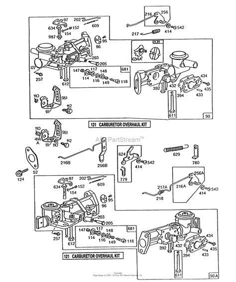 briggs and stratton carburetor diagram briggs and stratton 130212 1883 01 parts diagram for 2