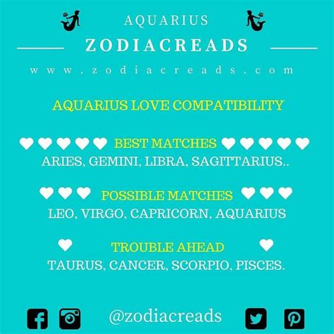 the 25 best aquarius love match ideas on pinterest