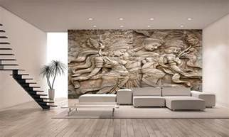 Giant Wall Mural Thai Style Angel Statue Wall Mural Photo Wallpaper Giant