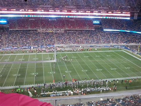 Section 312 Gillette Stadium by Gillette Stadium Section 311 New Patriots