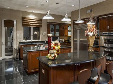 luxury kitchen with island breakfast bar home