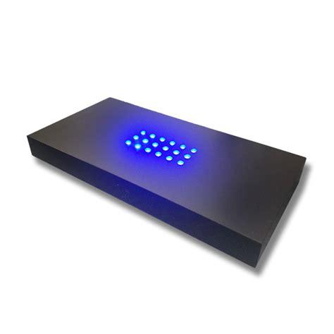 3d beleuchtung 3d zubeh 246 r led leuchtsockel 18 fach blau 200x100mm