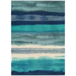 Buy online boca bc11 oslo stripe blue rug therugshopuk