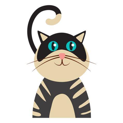 striped cat avatar transparent png svg vector