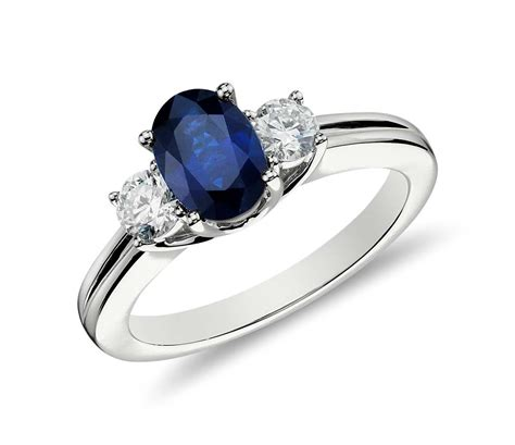 sapphire and ring in 18k white gold tanary jewelry