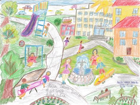 Draw Your Dream House samples of urbact children drawing contest draw your