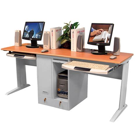 2 person computer desk object moved