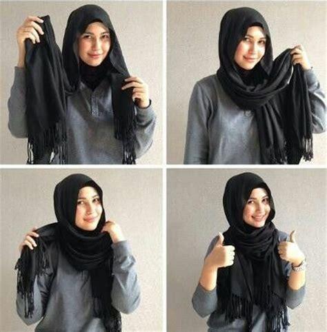 17 kreasi model hijab segi empat simple modern 2018 terbaik 48 model jilbab segi empat dan cara memakai simple modern