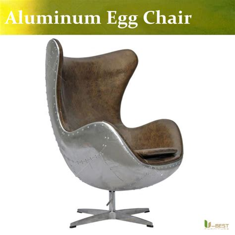 Alu Chair Design Ideas U Best Genuine Leather Aluminum Egg Chair Modern Fashion Design In Brown Color Leather Armchairs