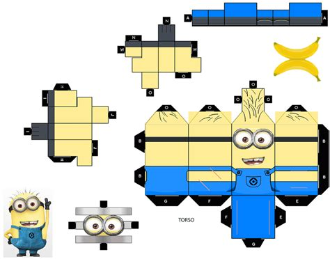 Papercraft Pattern - minion00eyes by tyumenb on deviantart