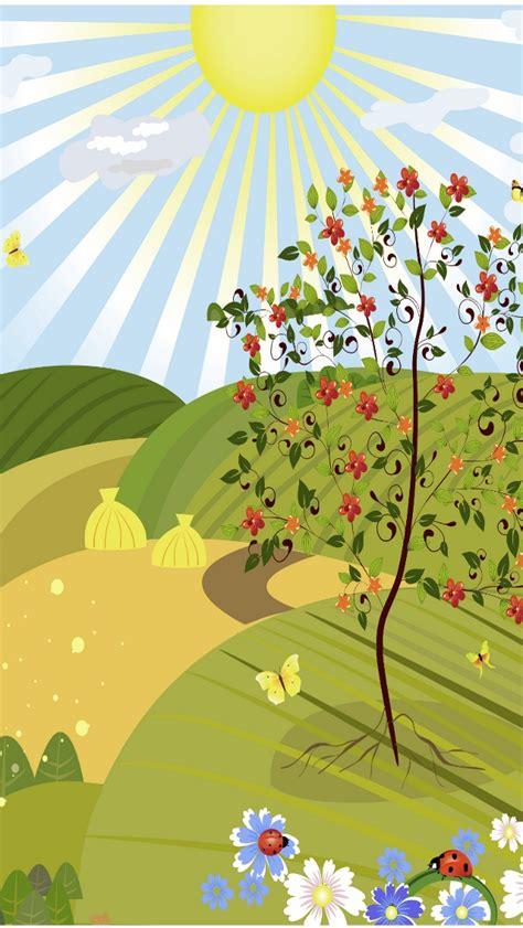 wallpaper cartoon landscape green cartoon landscape iphone wallpapers