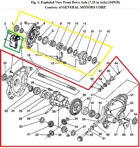 Exploded View Diagram For 1994 Chevy Truck 4x4 Front Drive
