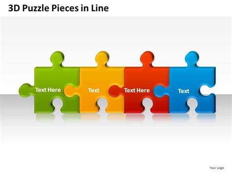 smart art puzzle pieces powerpoint template free smart art