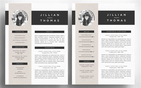 cv design illustrator template the best cv resume templates 50 exles design shack