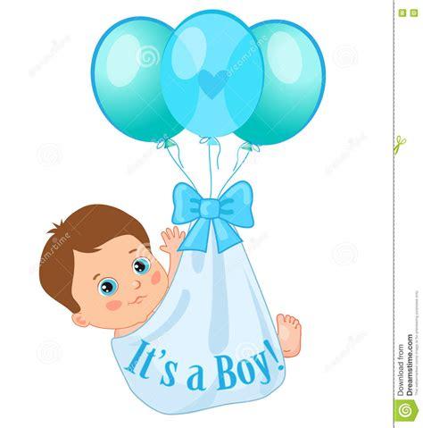 clipart neonato palloni di colore portano un neonato sveglio