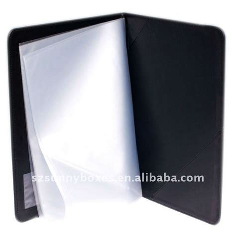 zipper leather file folders with notepad buy leather file folder leather presentation folder