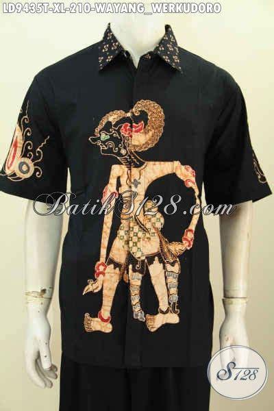 Lengan Panjang 9435 kemeja batik pria di jual pakaian batik modis halus elegan dasar hitam proses tulis