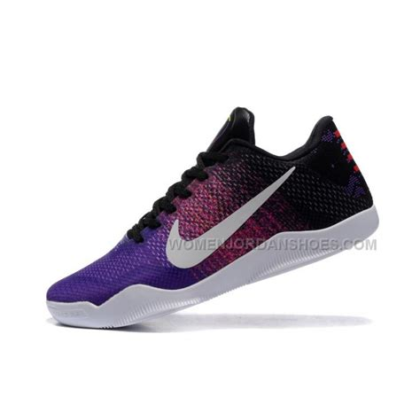 black basketball shoes nike 11 multi color white purple black basketball