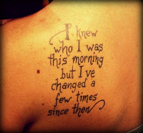 alice in wonderland quote tattoos in quote ink to get
