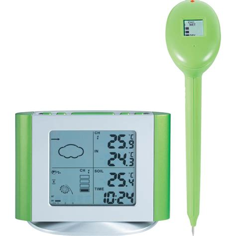 wireless weather station and soil moisture sensor from