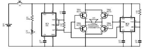 Alat Pengusir Hama Tikus Speaker Sound Ultrasonic rangkaian pengusir anjing elektronik dengan ic555 skema