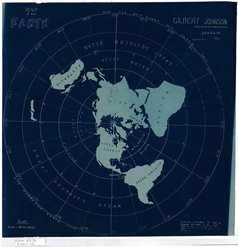 flat globe maps flat earth map created by gilbert johnson in 1890