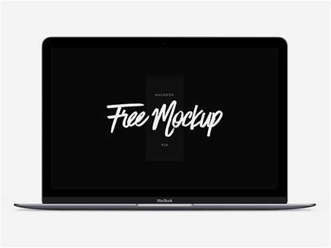 macbook psd mockup freebiesbug